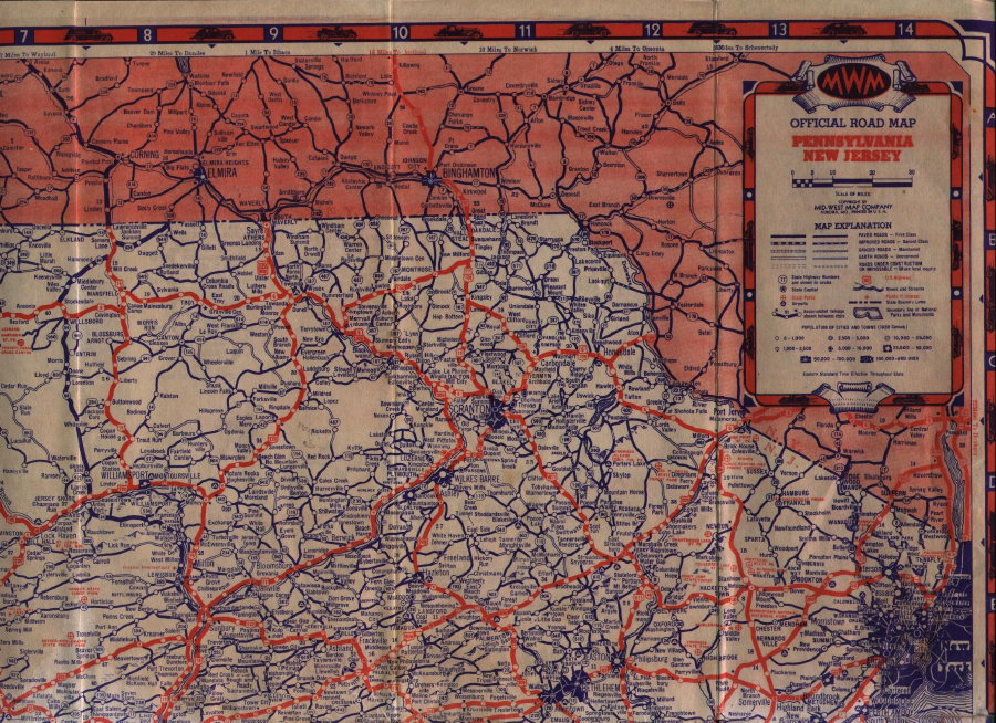 S Road Maps Of Pennsylvania - New jersey road map