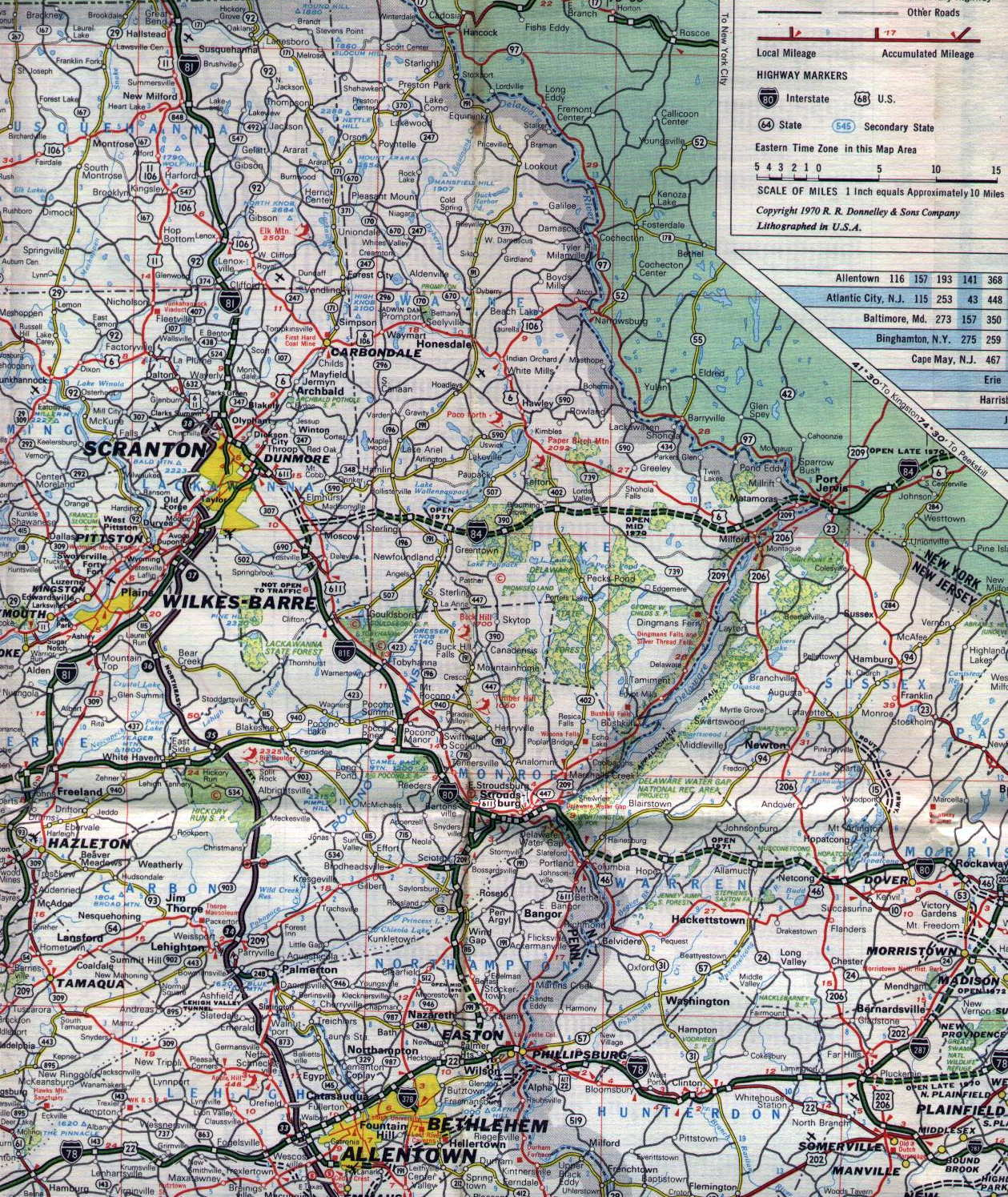 S Oil Company Road Maps Of Pennsylvania - Us road map company