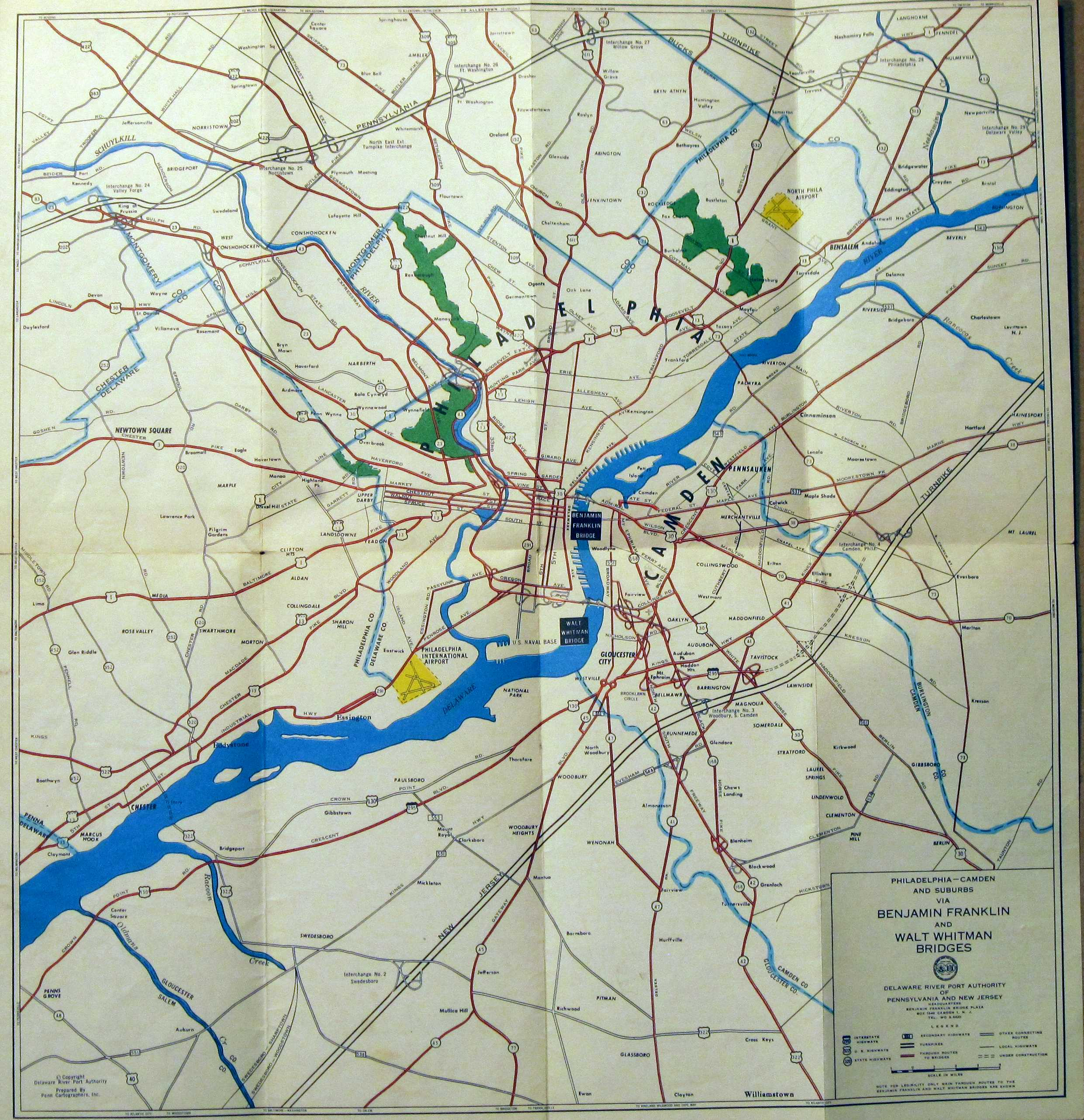 S Road Maps Of Pennsylvania - Us highway map 1960