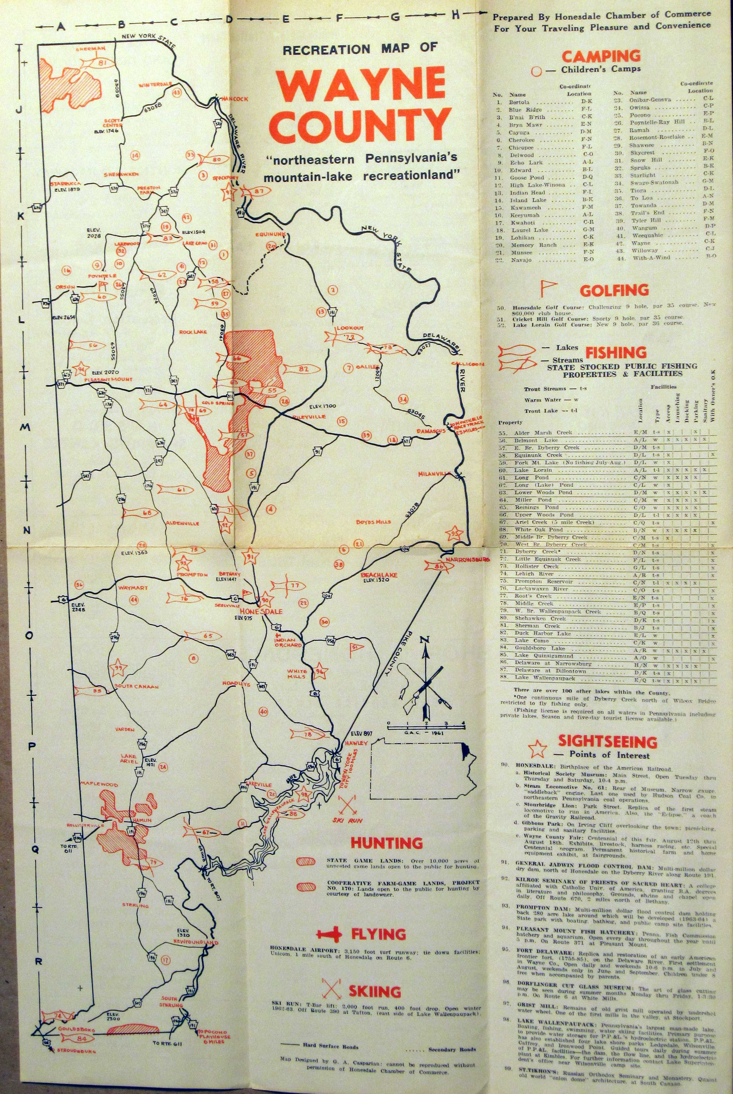 1960's Road Maps of Pennsylvania on