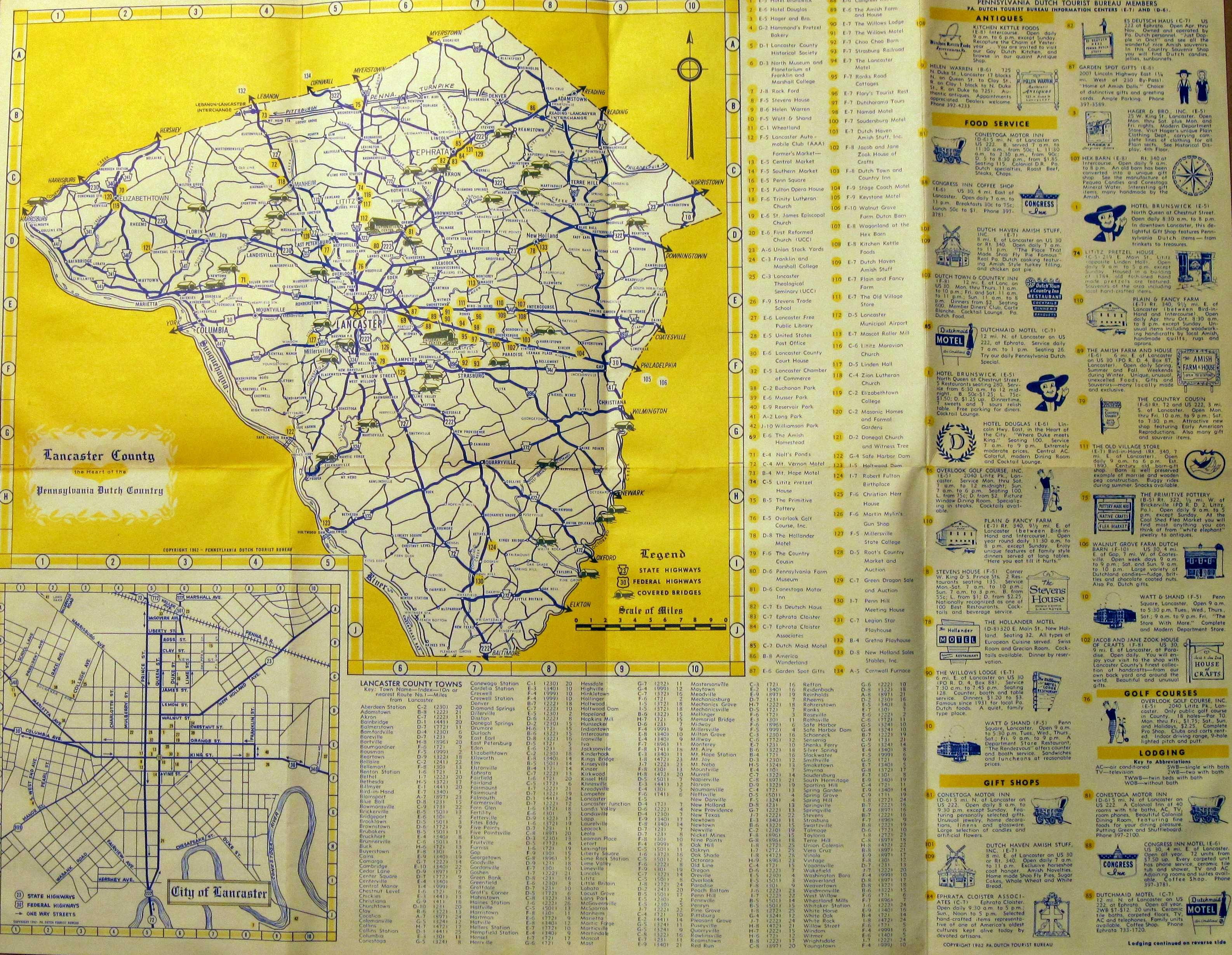 1960s Road Maps of Pennsylvania