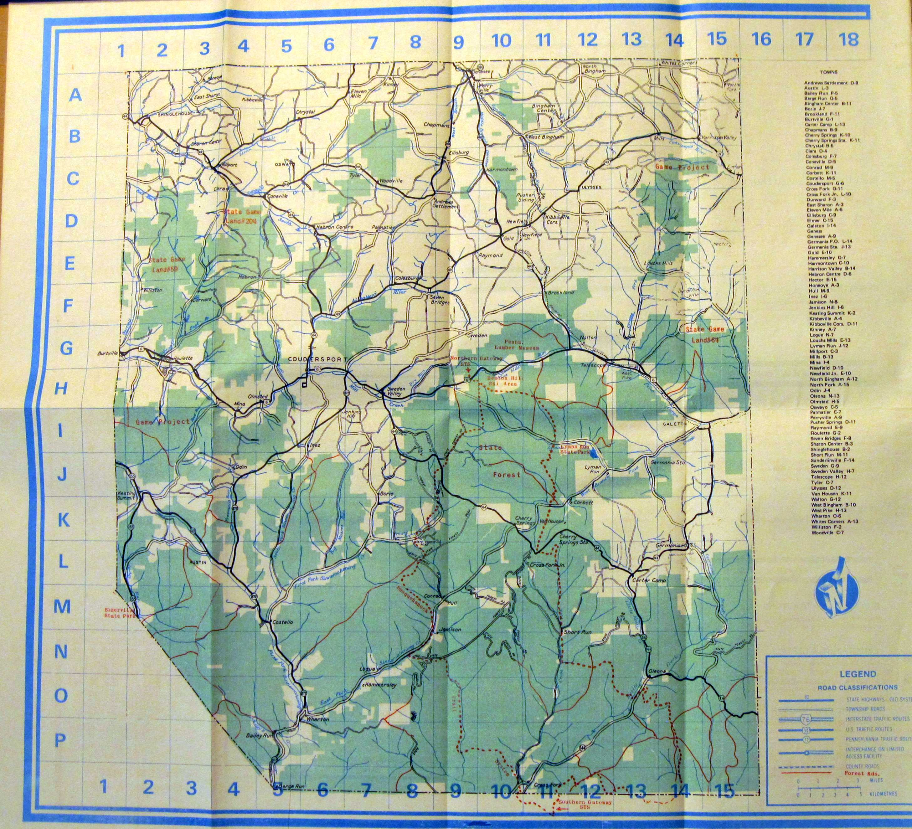 1980 S Road Maps Of Pennsylvania