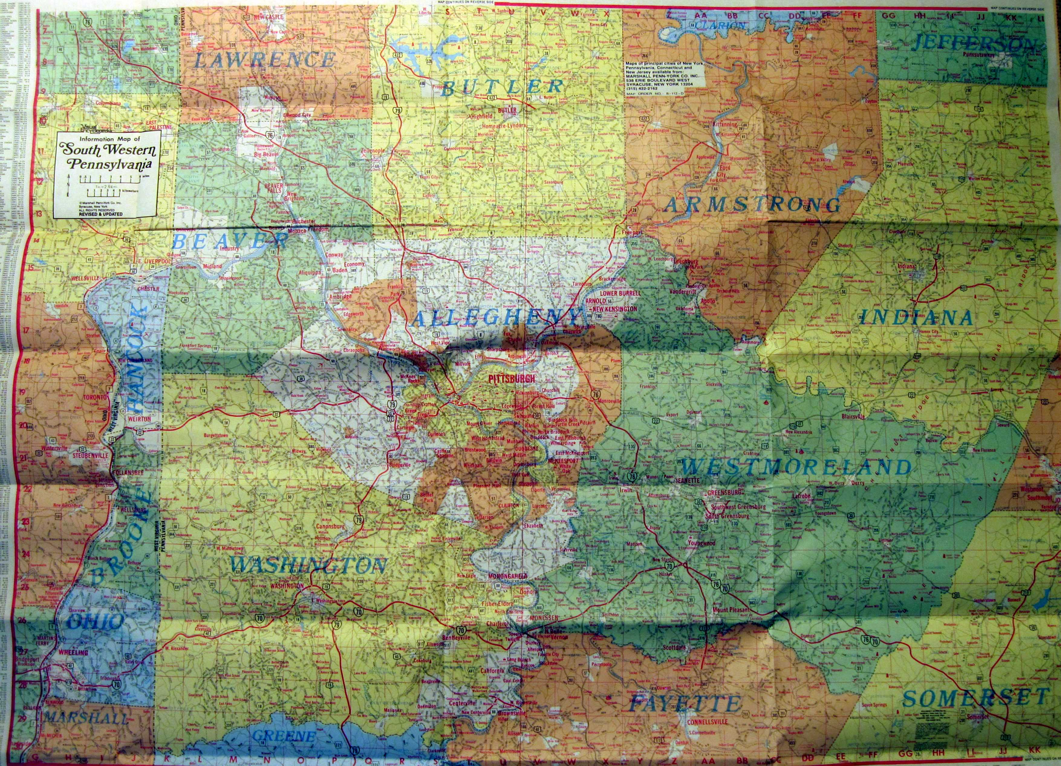 Location & Availability for Dating Rand and Gousha maps