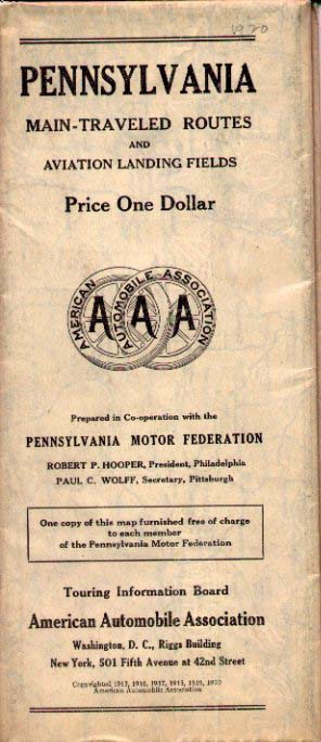 S Road Maps Of Pennsylvania - Does aaa have maps of the us