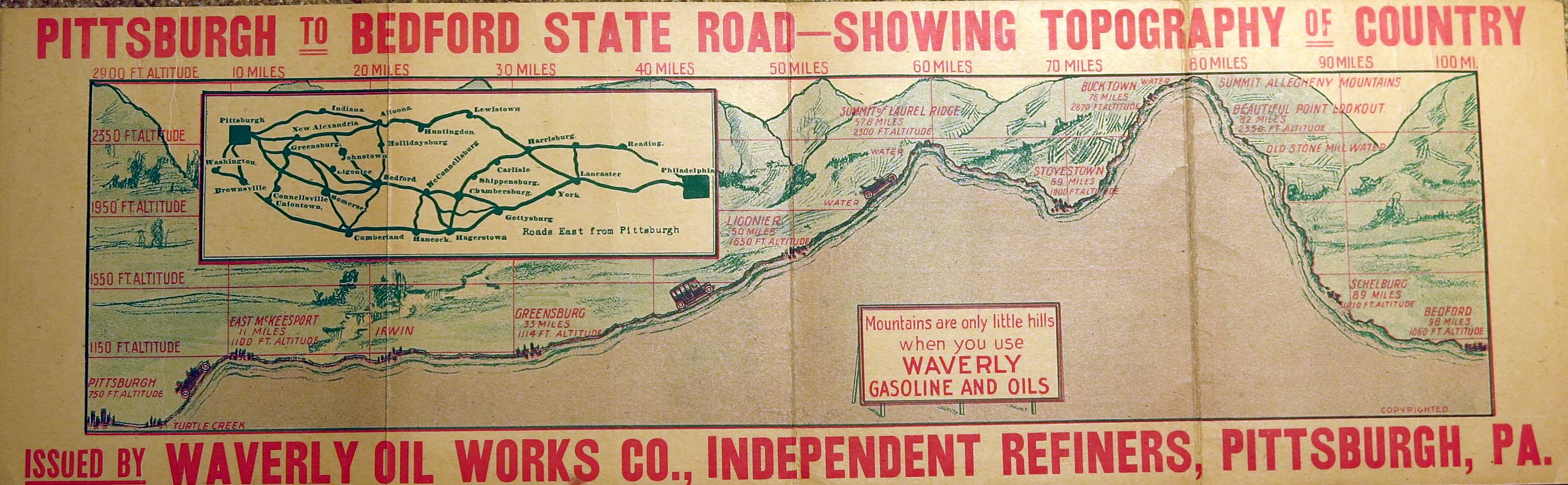 1910 S Oil Company Road Maps Of Pennsylvania