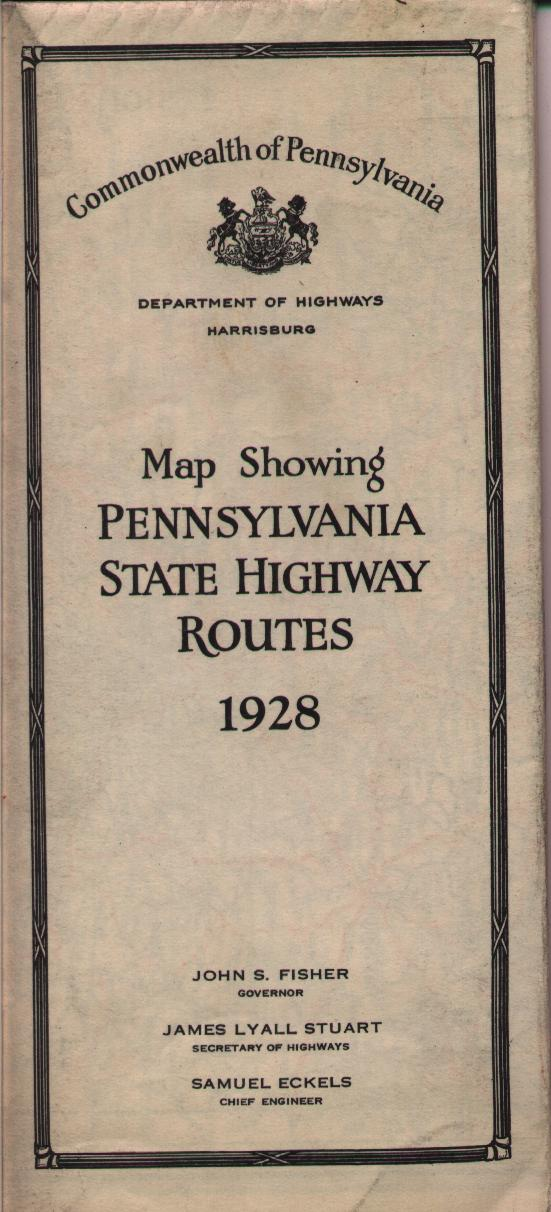 This Is The First State Road Map Using Modern Route Numbers The Federal Government Establishment The Us Route System Around 1926