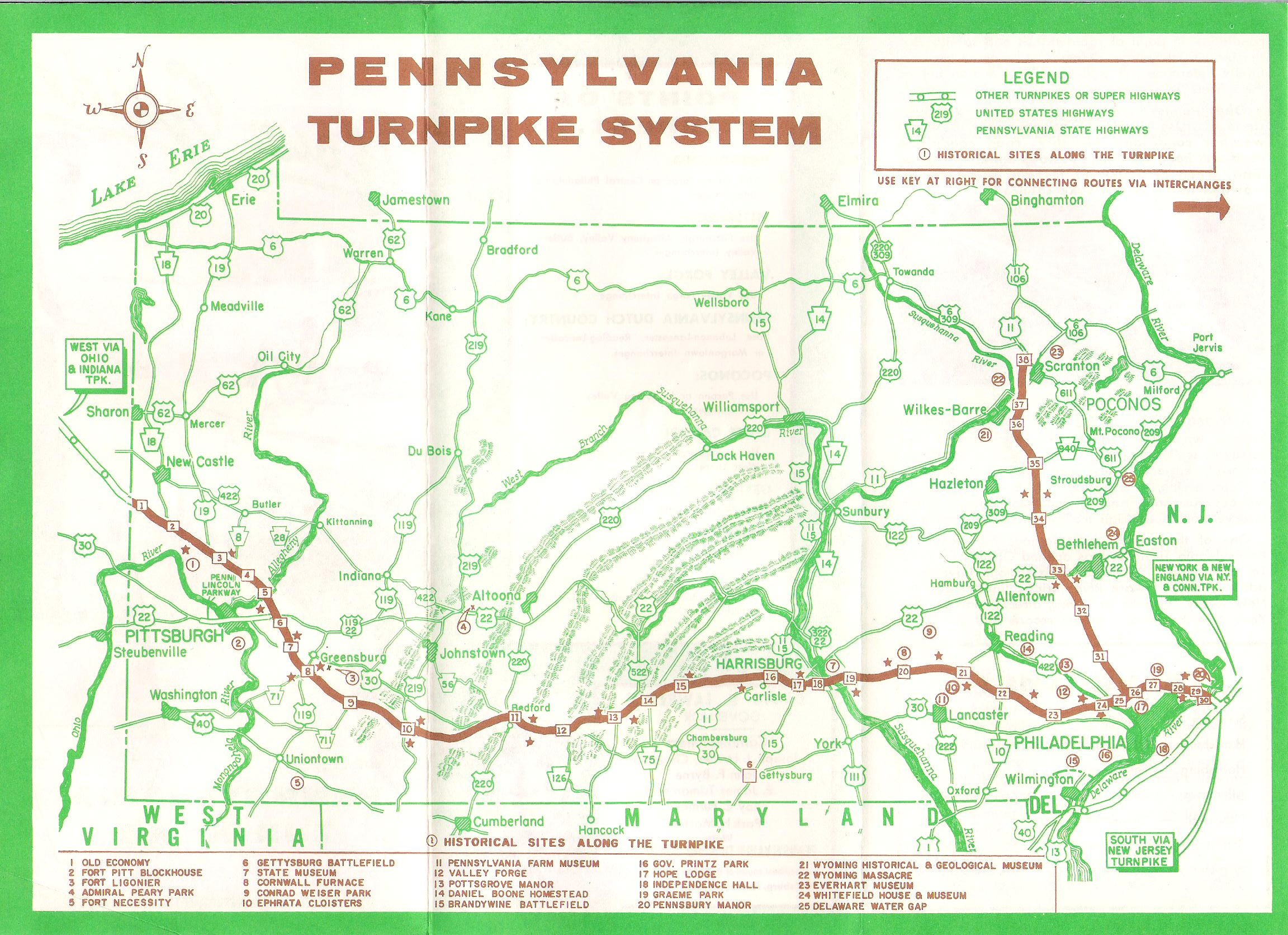 Pennsylvania Turnpike Map Missouri Map - Map of penna