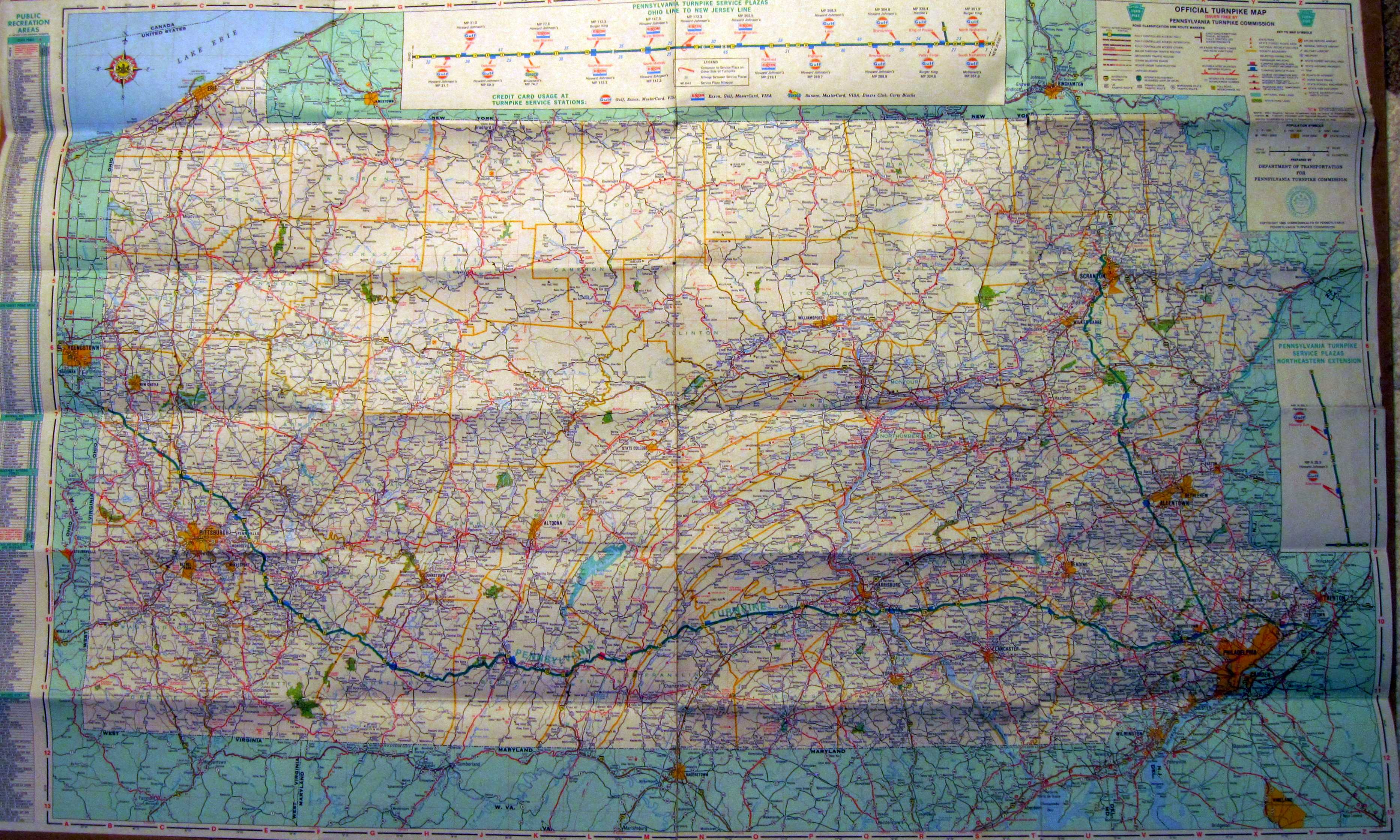 1980s Pennsylvania State Road Maps – State Road Maps