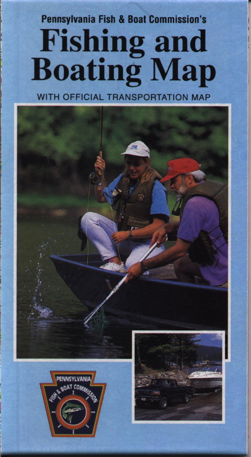 1990 39 s pennsylvania state road maps for Pa boat and fish commission